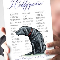 I Certify...Black Labrador Card