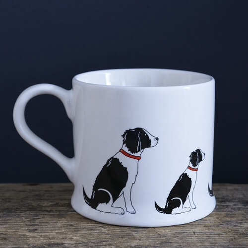 Black & White Spaniel Mug.