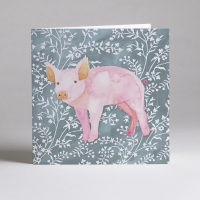Pig Greetings Card
