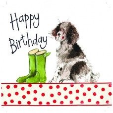 Springer and Wellies Card