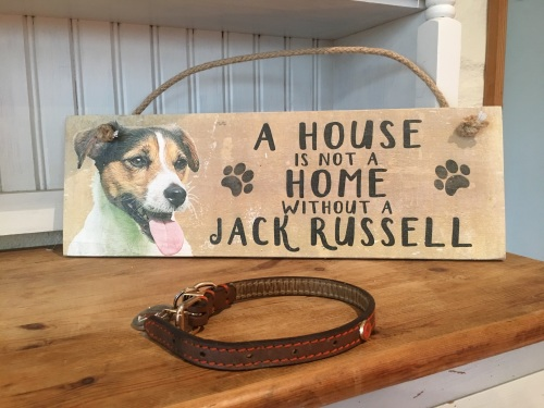 A House is not a Home Jack Russell Wooden Hanging Sign