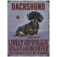 Dachshund Metal Sign
