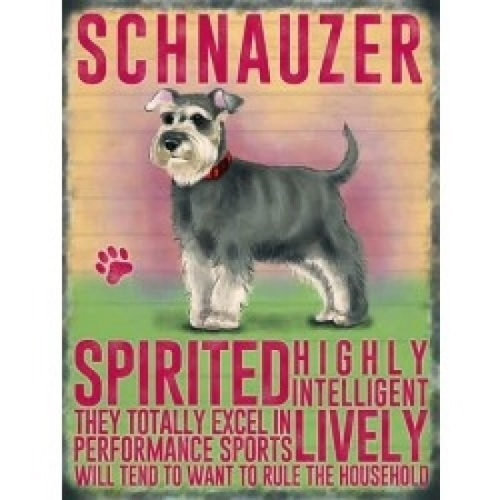 Schnauzer Metal Sign
