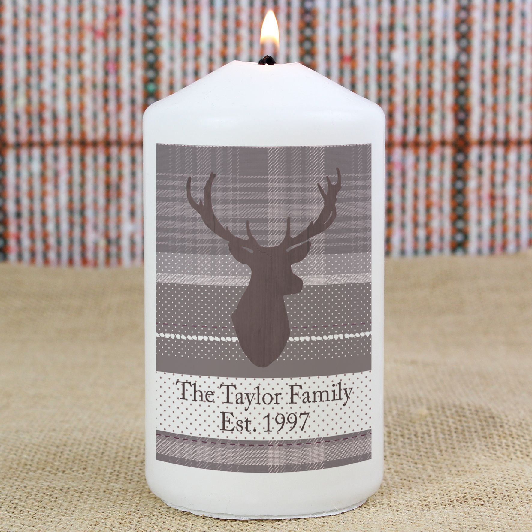 candle xmas personalised