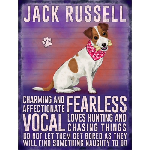 Jack Russell Metal Sign