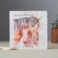Love You Mum Mare and Foal Card