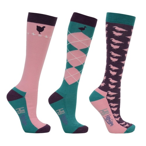 Pack of Three Poultry Socks