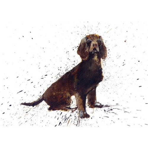 Brown Cocker Spaniel Card