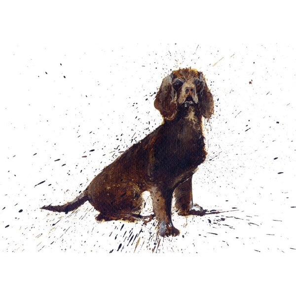 Brown Cocker Spaniel Card