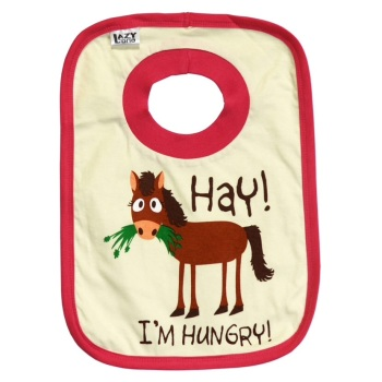 Hay I'm Hungry Baby Bib