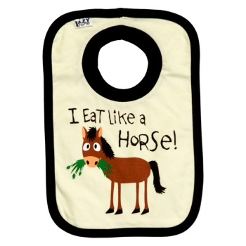 I Eat Like a Horse Baby Bib