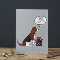 Beagle Father's Day Card