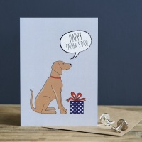 Vizsla Father's Day Card