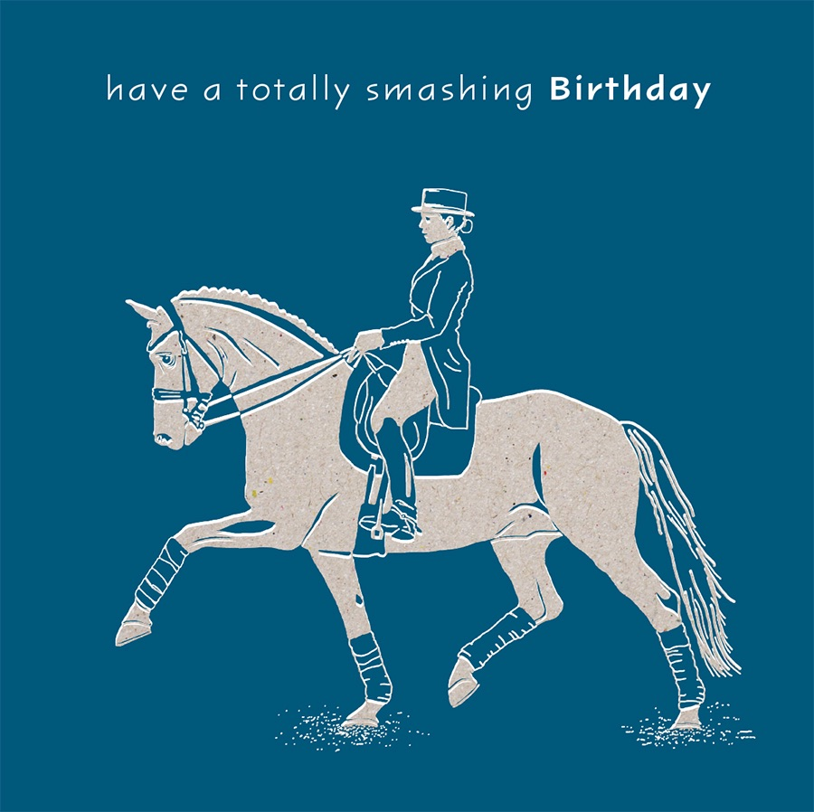 Smashin Birthday Dressage Card