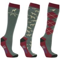 Pack of Three Fox, Pheasant and Hound Socks