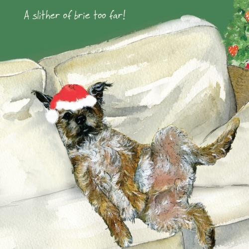 Brie Border Terrier Christmas Card