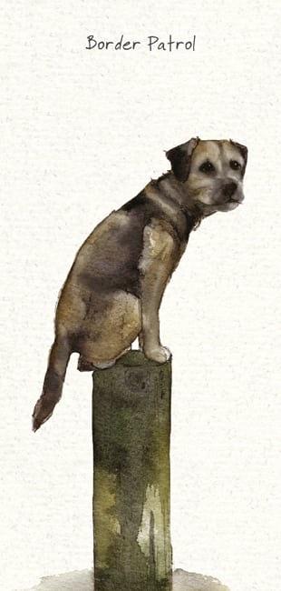 Patrol Border Terrier Card