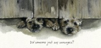 Sausage Border Terrier Card
