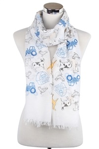 Farm Animals Print Scarf