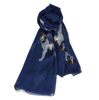 Navy Jack Russell Lightweight Scarf