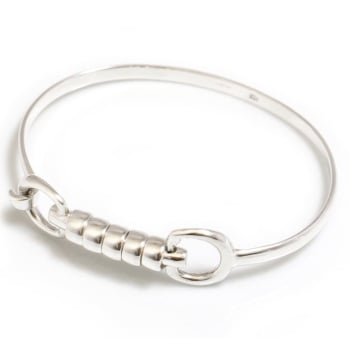 Sterling Silver Cherry Roller Bangle