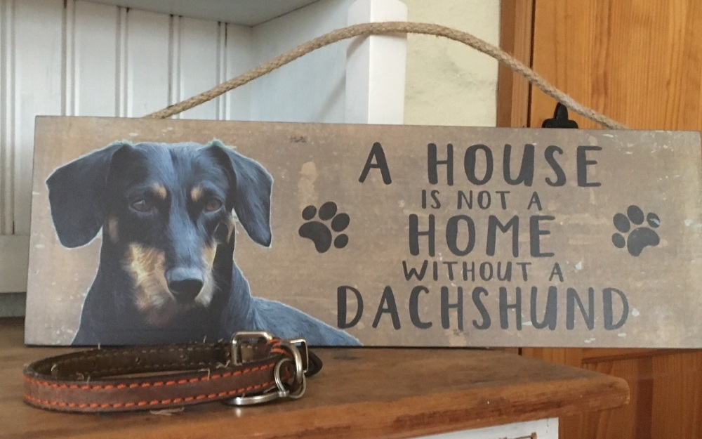 A House is not a Home Dachshund Wooden Hanging Sign