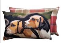 Hounds Tweed Backed Cushion