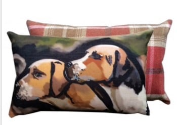 Hounds Tweed Backed Cushion
