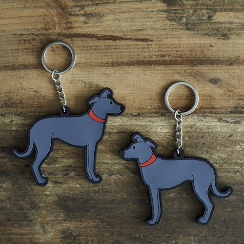 Lurcher Key Ring