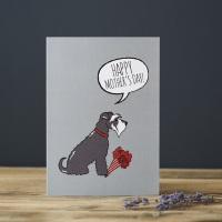 Grey Schnauzer Mother's Day Card