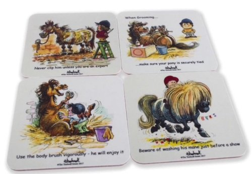 Set of 4 Thelwell Pony Coasters