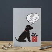 Black Cocker Spaniel Father's Day Card