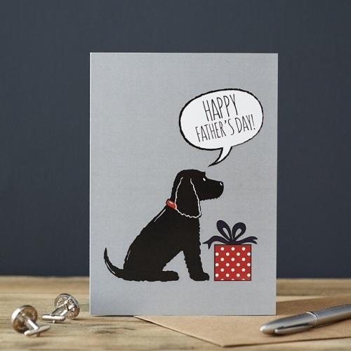 Black Cocker Spaniel Father's Day Card