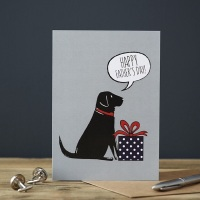 Black Labrador Father's Day Card