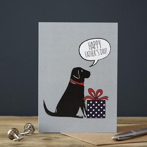 Black Labrador Father's Day Card