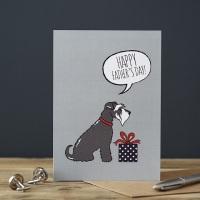 Grey Schnauzer Father's Day Card