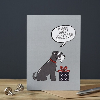 Grey Schnauzer Father's Day Card