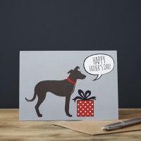Sighthound Father's Day Card