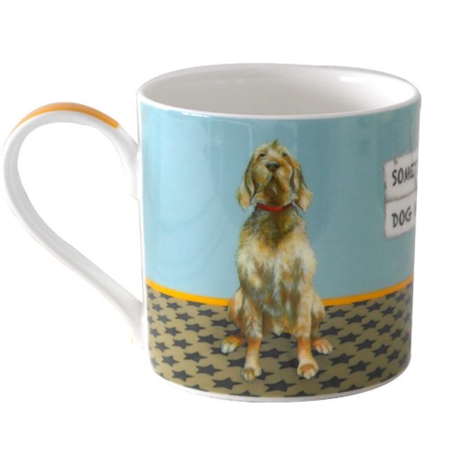 Dog Hug Vizsla Bone China Mug