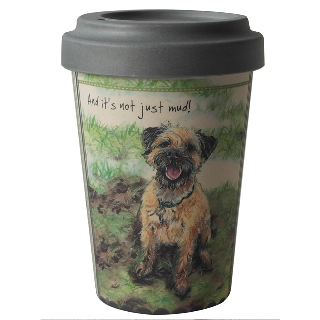 Not Mud Border Terrier Bamboo Travel Mug