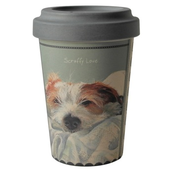 Scruffy Love Jack Russell Bamboo Travel Mug