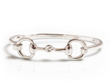 Sterling Silver Double Snaffle Bangle