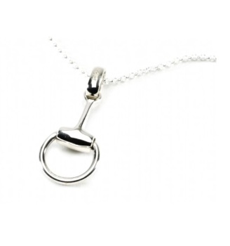 Sterling Silver Snaffle Pendant with Fine Trace Chain