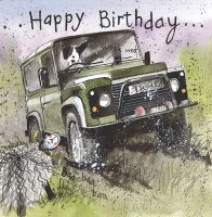 Off Roading 4 x 4 Birthday  Card
