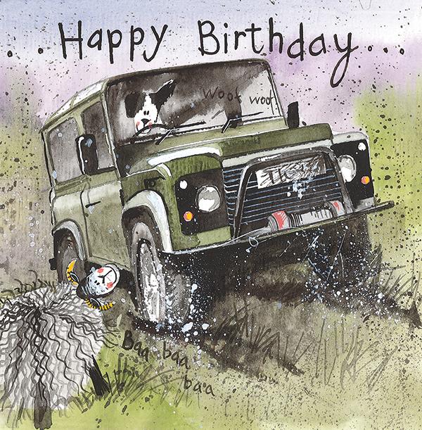 Off Roading 4 x 4 Birthday  Card