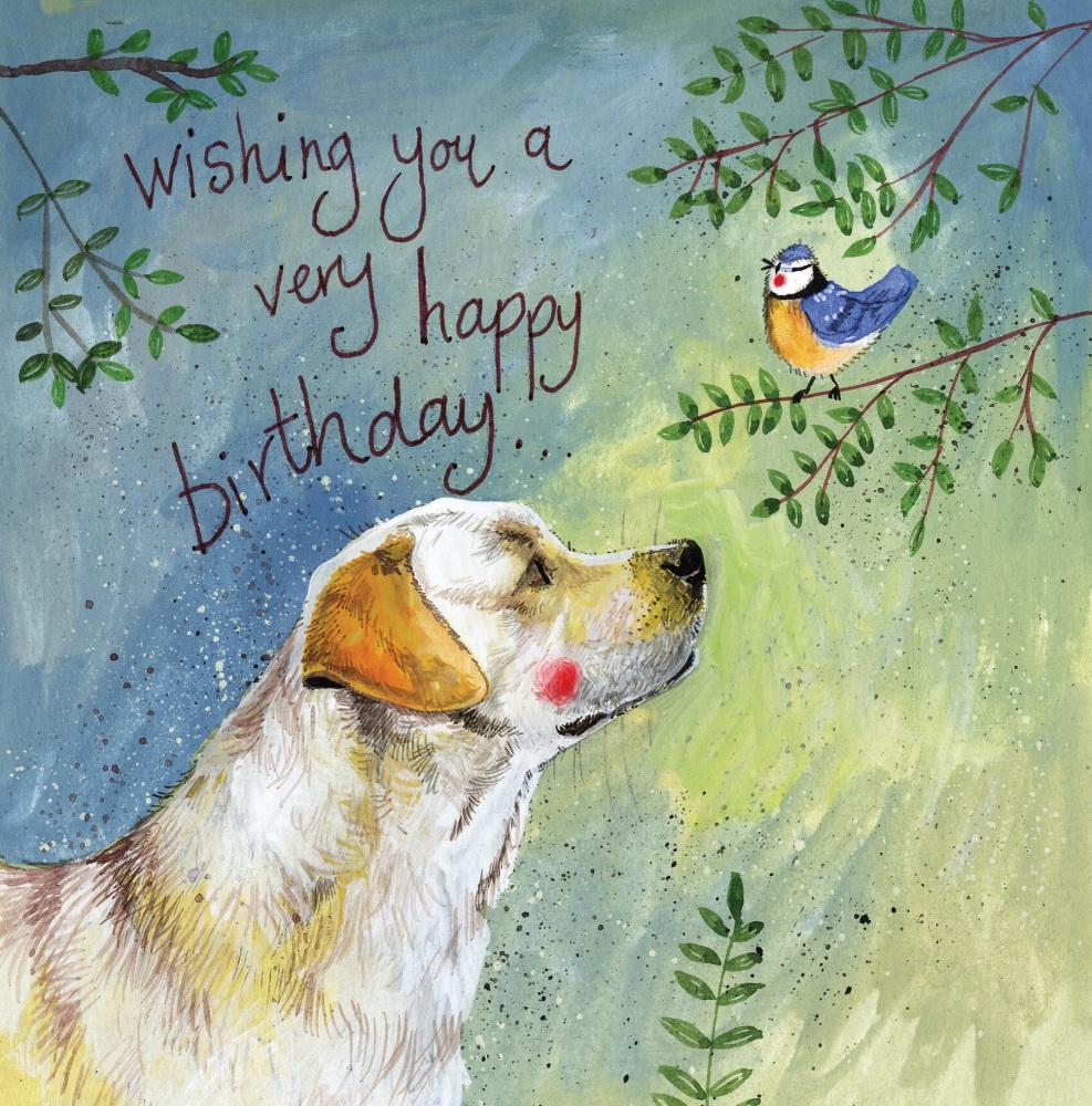 Sally Labrador Birthday Card