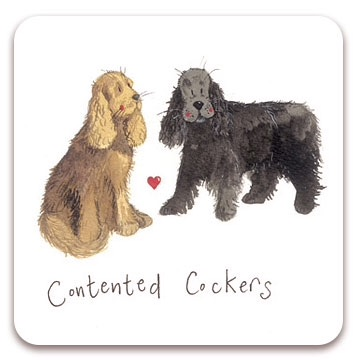 Contented Cockers Coaster