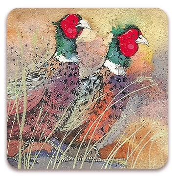 Pleasant Pheasant Coaster