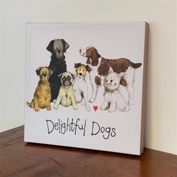 Delightful Dogs Art Canvas