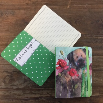 Border Terrier in Poppies Chunky Notebook